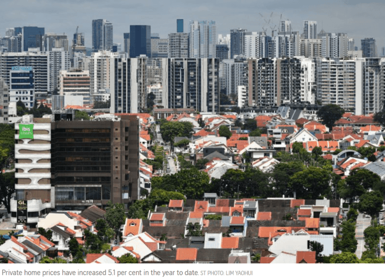 Read more about the article Singapore private home prices up 0.9% in Q3